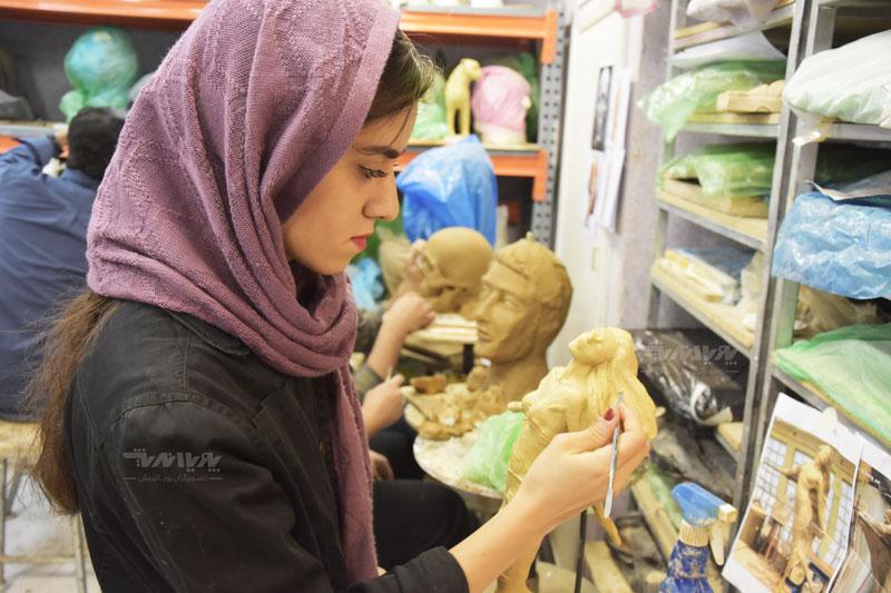 هنرجویان مجسمه سازی