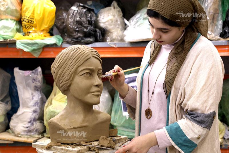 مجسمه سازی با گل سفال
